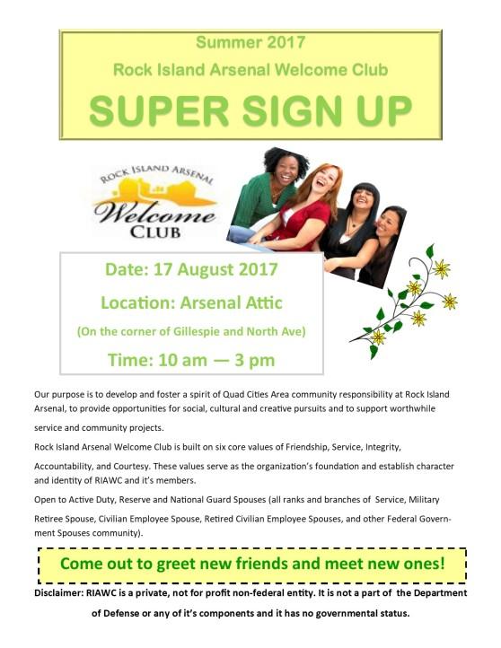 Super Sign Up flyer 2017